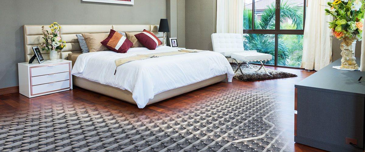 habitacion calentada por un sistema de piso radiante