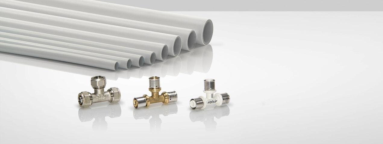 Diversos modelos de tubería multicapa y pex valsir