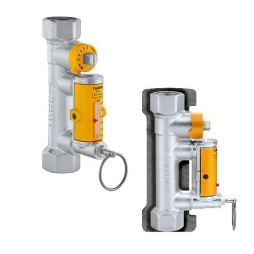 Válvula de equilibrado con caudalímetro